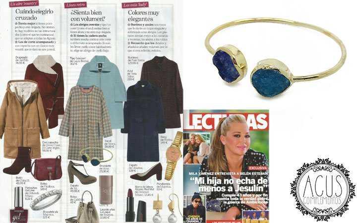 Revista Lecturas | Brazalete piedras drusas