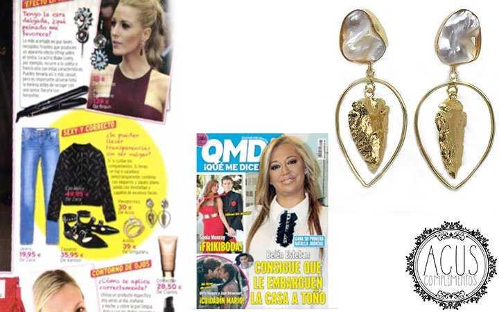 Revista QMD | Pendientes perla y flecha