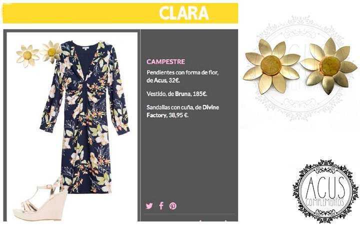 REVISTA CLARA WEB | Pendientes Gran Sol amarillos