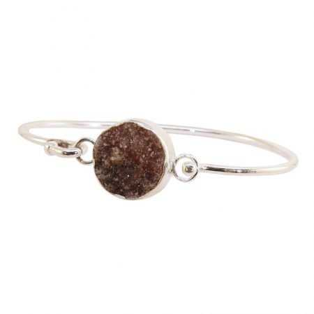 PULSERA WOMAN PLATA MARRÓN