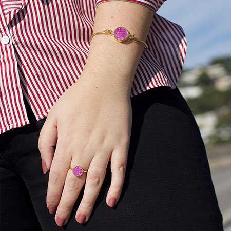 PULSERA POINT FUCSIA MO