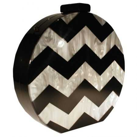 CLUTCH CHEVRON NEGRO