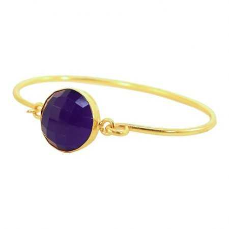 PULSERA POINT PIEDRA PULIDA AZUL ROYAL
