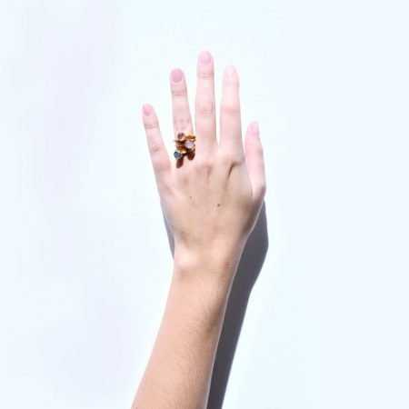 ANILLO MINI POINT ROSA DARK