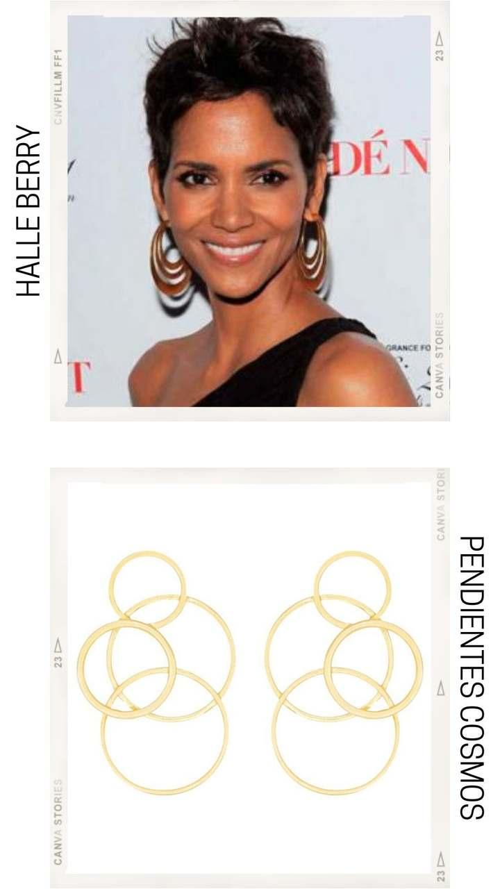 PENDIENTES SEGÚN TIPO DE ROSTRO diamante con pendientes artesanales dorados con formas circulares de ACUS