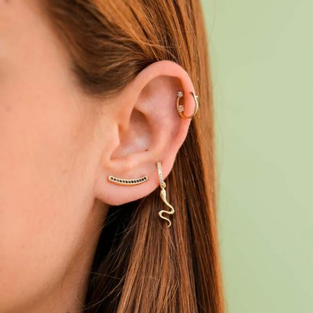 ATTRIUM PENDIENTES EARCUFF THIRTEEN BLACK