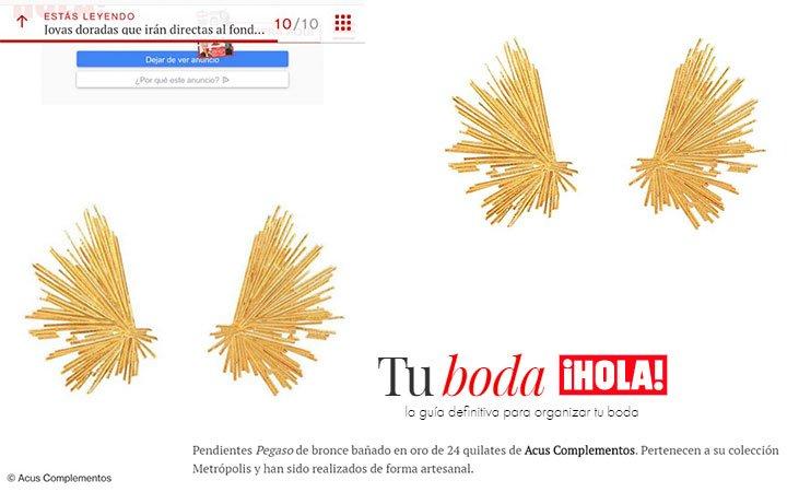 REVISTA HOLA.COM | PENDIENTES PEGASO