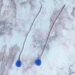 Pendientes-Cadena-Iconic-venta-flash-plata-azul